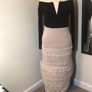 Pencil Lace Stretch Skirt